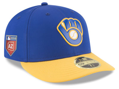 Milwaukee Brewers New Era 2018 MLB Spring Training Prolight Low Profile 59FIFTY Cap
