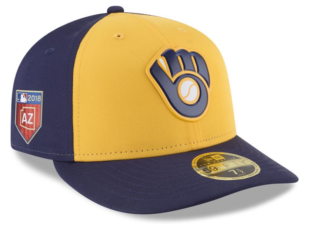 Milwaukee Brewers New Era 2018 MLB Spring Training Prolight Low Profile  59FIFTY Cap  525e3315e80