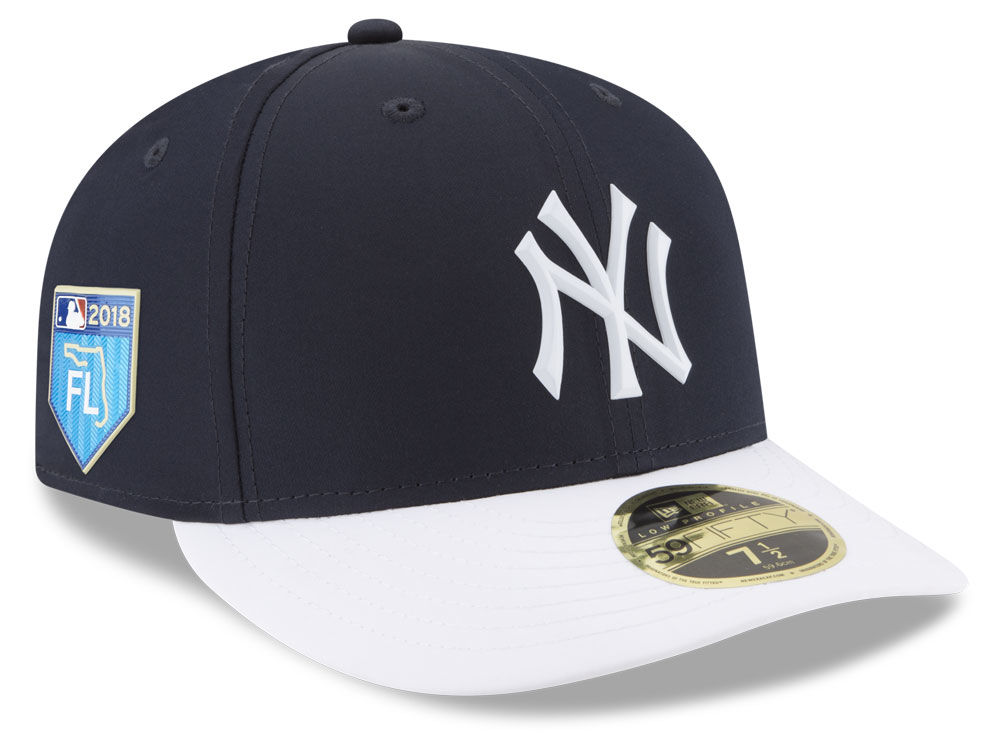 a2ee22f120a New York Yankees New Era 2018 MLB Spring Training Prolight Low Profile  59FIFTY Cap