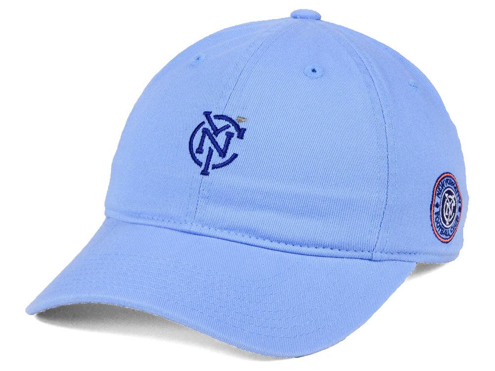 New York City FC adidas MLS Partial Logo Dad Hat  b80bb958921