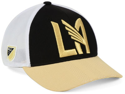 size 40 902fb 009be ... buy los angeles football club adidas mls authentic mesh adjustable cap  aae2c 2bf6d