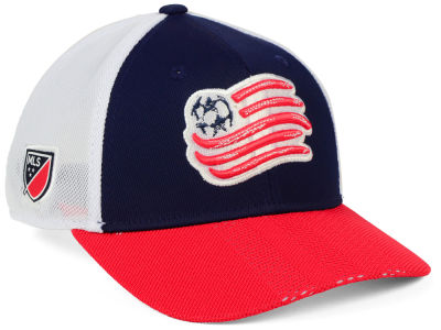 New England Revolution adidas MLS Authentic Mesh Adjustable Cap