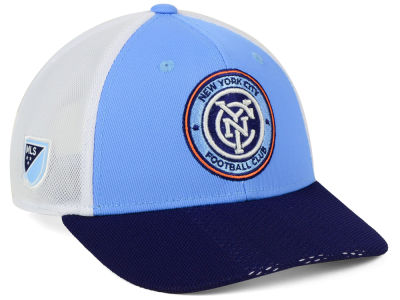 New York City FC adidas MLS Authentic Mesh Adjustable Cap