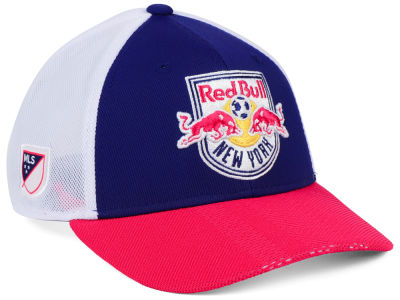 New York Red Bulls adidas MLS Authentic Mesh Adjustable Cap