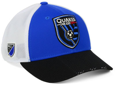 San Jose Earthquakes adidas MLS Authentic Mesh Adjustable Cap