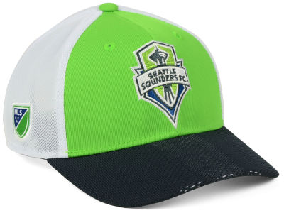 Seattle Sounders FC adidas MLS Authentic Mesh Adjustable Cap