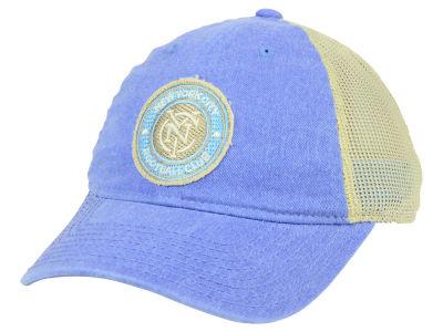 ff1b4844253 New York City FC adidas MLS Bleached Trucker Cap