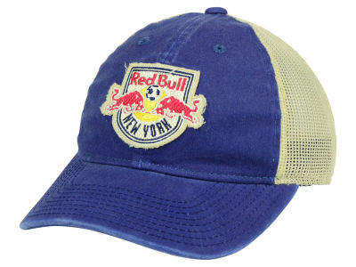 New York Red Bulls adidas MLS Bleached Trucker Cap
