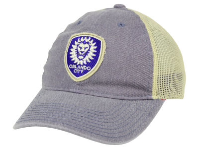 the latest dcb21 84092 Orlando City SC adidas MLS Bleached Trucker Cap