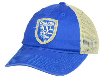 San Jose Earthquakes adidas MLS Bleached Trucker Cap