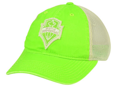 Seattle Sounders FC adidas MLS Bleached Trucker Cap