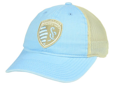 Sporting Kansas City adidas MLS Bleached Trucker Cap