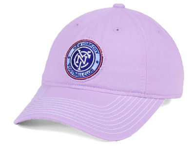 New York City FC adidas MLS Pink Slouch Cap