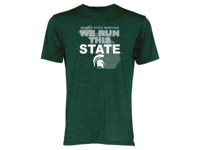 Michigan State Spartans Blue 84 NCAA Men's We Run This State Tri-Blend T-Shirt
