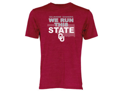 Oklahoma Sooners Blue 84 NCAA Men's We Run This State Tri-Blend T-Shirt