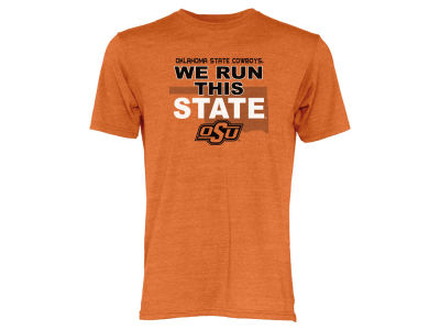 Oklahoma State Cowboys Blue 84 NCAA Men's We Run This State Tri-Blend T-Shirt