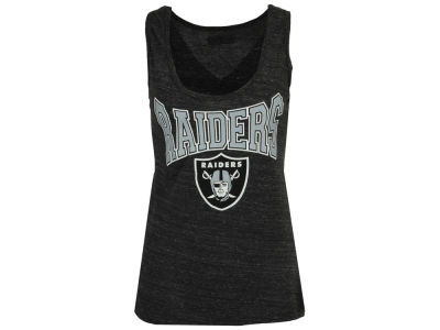 Oakland Raiders 5th & Ocean NFL Women's Glitter Tank