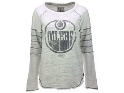 Edmonton Oilers adidas NHL Women's Long Sleeve Raglan T-shirt