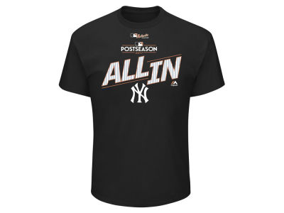 New York Yankees Majestic 2017 MLB Men's Division Series Locker Room T-Shirt