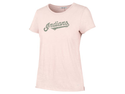 Cleveland Indians '47 MLB Women's Blush Letter Crew T-Shirt