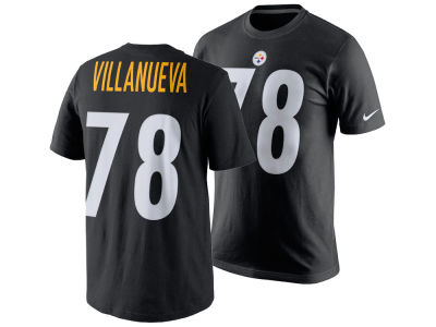 Pittsburgh Steelers Alejandro Villanueva Nike NFL Men's Pride Name and Number T-Shirt