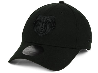 Memphis Grizzlies New Era NBA Blackout 39THIRTY Cap