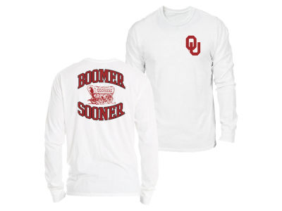 Oklahoma Sooners Retro Brand NCAA Men's Double Sided Long Sleeve T-Shirt