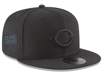 Cincinnati Reds New Era MLB Blackout Ultimate Patch Collection 59FIFTY Cap