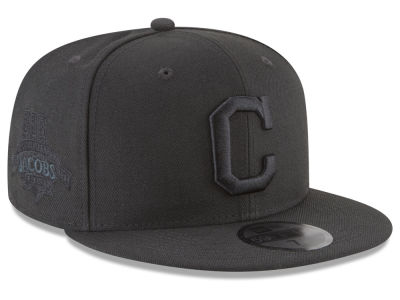 Cleveland Indians New Era MLB Blackout Ultimate Patch Collection 59FIFTY Cap