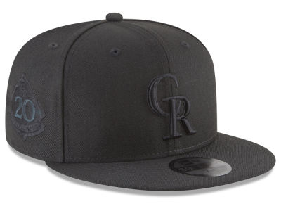 Colorado Rockies New Era MLB Blackout Ultimate Patch Collection 59FIFTY Cap