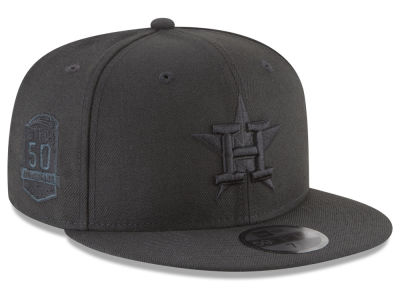 Houston Astros MLB Blackout Ultimate Patch Collection 59FIFTY Cap