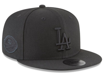 Los Angeles Dodgers New Era MLB Blackout Ultimate Patch Collection 59FIFTY Cap