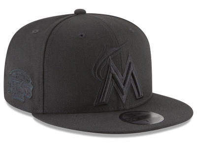 Miami Marlins New Era MLB Blackout Ultimate Patch Collection 59FIFTY Cap