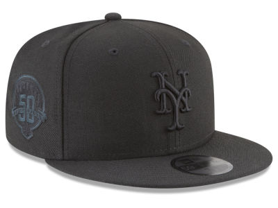 New York Mets New Era MLB Blackout Ultimate Patch Collection 59FIFTY Cap
