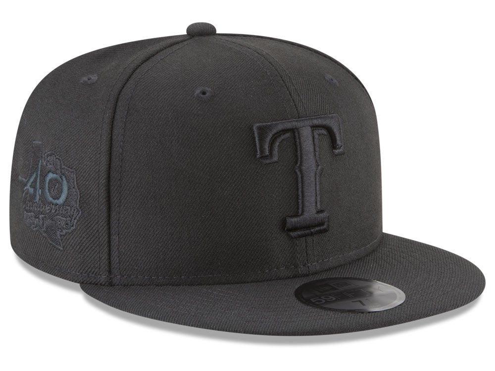 03a635a1a28 Texas Rangers New Era MLB Blackout Ultimate Patch Collection 59FIFTY Cap