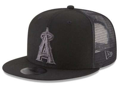 Los Angeles Angels MLB Blackout Mesh 9FIFTY Snapback Cap