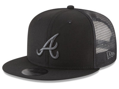 Atlanta Braves New Era MLB Blackout Mesh 9FIFTY Snapback Cap