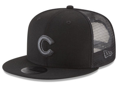 Chicago Cubs MLB Blackout Mesh 9FIFTY Snapback Cap