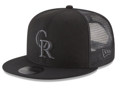 Colorado Rockies New Era MLB Blackout Mesh 9FIFTY Snapback Cap