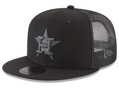 Houston Astros MLB Blackout Mesh 9FIFTY Snapback Cap