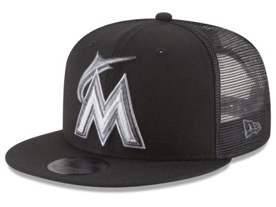 Miami Marlins New Era MLB Blackout Mesh 9FIFTY Snapback Cap