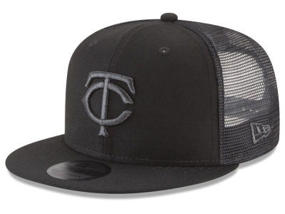 Minnesota Twins New Era MLB Blackout Mesh 9FIFTY Snapback Cap