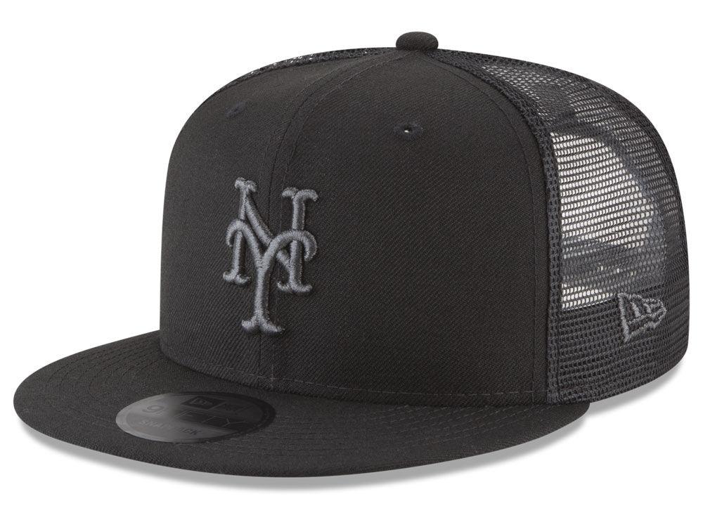 606ae4825cb New York Mets New Era MLB Blackout Mesh 9FIFTY Snapback Cap