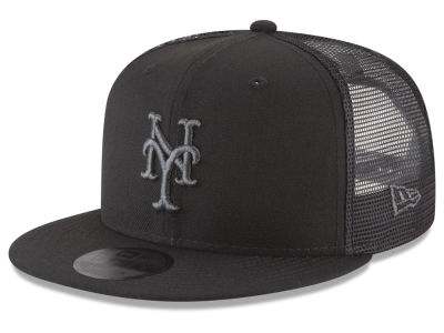 New York Mets New Era MLB Blackout Mesh 9FIFTY Snapback Cap