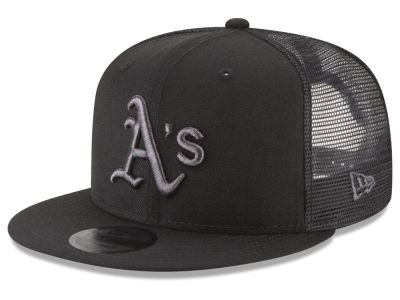 Oakland Athletics MLB Blackout Mesh 9FIFTY Snapback Cap