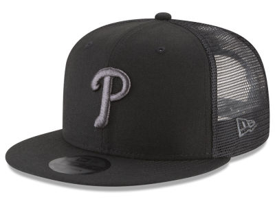 Philadelphia Phillies New Era MLB Blackout Mesh 9FIFTY Snapback Cap