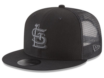 St. Louis Cardinals New Era MLB Blackout Mesh 9FIFTY Snapback Cap