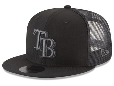 Tampa Bay Rays New Era MLB Blackout Mesh 9FIFTY Snapback Cap