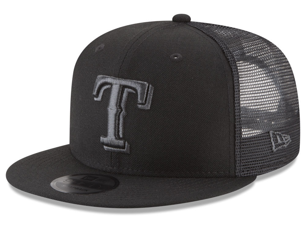 texas rangers new era mlb blackout mesh 9fifty snapback cap