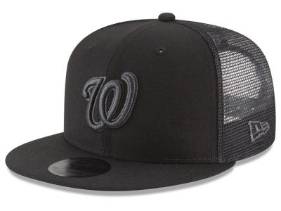 Washington Nationals MLB Blackout Mesh 9FIFTY Snapback Cap